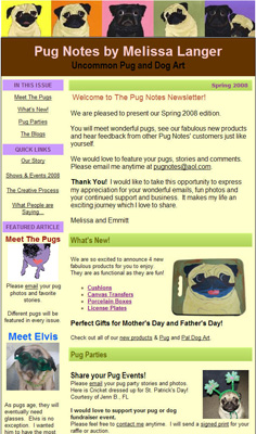Pug Notes Quarterly Newsletter